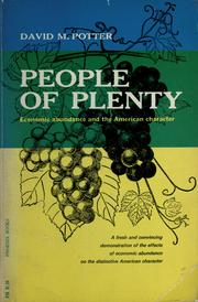 Cover of: People of plenty