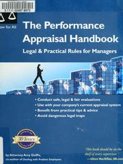 Cover of: The performance appraisal handbook | Amy DelPo