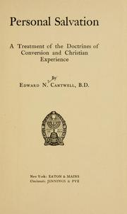 Cover of: Personal salvation | E. N. Cantwell
