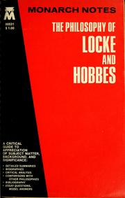 Cover of: The philosophy of Locke and Hobbes | Sugwon Kang