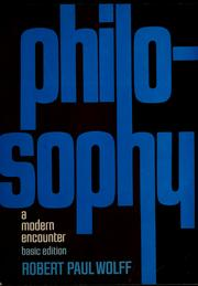 Cover of: Philosophy | Robert Paul Wolff