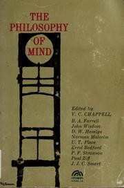 The philosophy of mind by V. C. Chappell