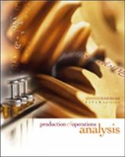 Cover of: Production and Operations Analysis with Student CD