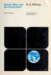 Cover of: Plants, man, and the ecosystem | W. D. Billings