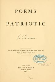 Cover of: Poems patriotic | John H. Battersby