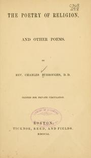 Cover of: The poetry of religion | Charles Burroughs