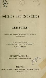 Cover of: The Politics and Economics | Aristotle