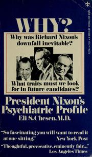 Cover of: President Nixon's psychiatric profile | Eli S. Chesen