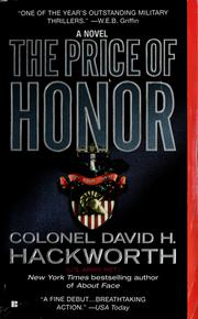 Cover of: The price of honor | David H. Hackworth