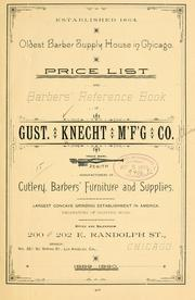 Cover of: Price list and barbers