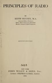 Cover of: Principles of radio | Keith Henney