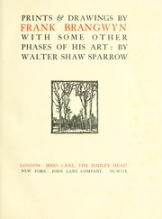 Cover of: Prints & drawings by Frank Brangwyn | Sparrow, Walter Shaw