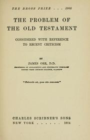 Cover of: The problem of the Old Testament | James Orr