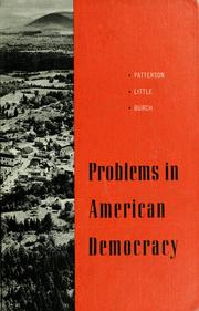 Cover of: Problems in American democracy | Samuel Howard Patterson