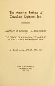 Cover of: Proceedings of annual meeting | American Institute of Consulting Engineers