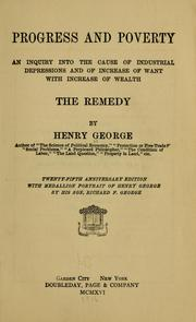 Cover of: Progress and poverty | Henry George