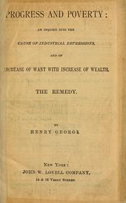 Cover of: Progress and proverty | George, Henry