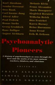 Cover of: Psychoanalytic pioneers