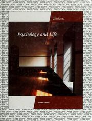 Cover of: Psychology and life | Philip G. Zimbardo