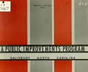 A Public improvements program for Salisbury, North Carolina by North Carolina. Division of Community Planning