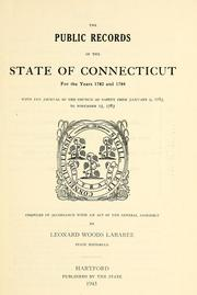 Cover of: The public records of the state of Connecticut | Connecticut