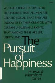 Cover of: The pursuit of happiness by Howard Mumford Jones