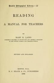 Cover of: Reading | Mary E. Laing