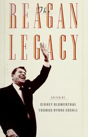Cover of: The Reagan legacy by Sidney Blumenthal