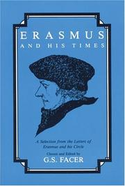 Cover of: Erasmus and his times: a selection from the letters of Erasmus and his circle