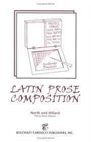 Cover of: Latin Prose Composition