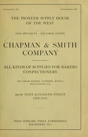 Cover of: [Catalogue of] Chapman & Smith company | Chapman & Smith company, Chicago