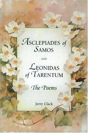 Cover of: Asclepiades of Samos and Leonidas of Tarentum