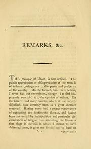 Cover of: Remarks on the terms of the union | Browne, Arthur