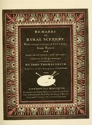 Cover of: Remarks on rural scenery | John Talbot Smith