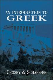 Cover of: introduction to Greek | H. Lamar Crosby