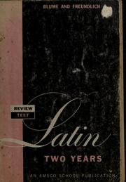 Cover of: Review text in Latin two years | Eli Blume