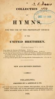 A Collection of hymns, for the use of the Protestant Church of the United Brethren