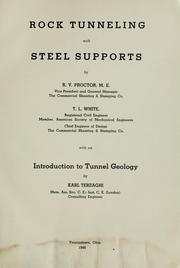 Rock tunneling with steel supports