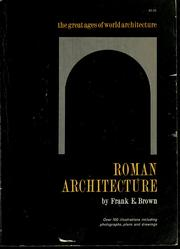 Cover of: Roman architecture. | Frank Edward Brown
