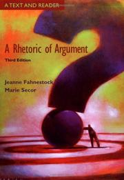 Cover of: A Rhetoric of Argument | Jeanne Fahnestock
