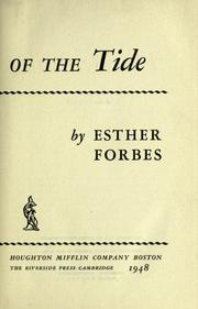 Cover of: The running of the tide. | Esther Forbes