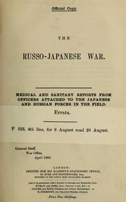 Cover of: The Russo-Japanese war | Great Britain. War Office