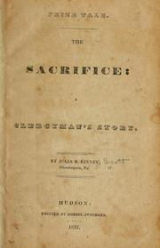 Cover of: sacrifice | Julia H. Kinney Scott
