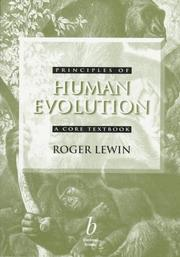 Cover of: Principles of human evolution