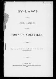 Cover of: By-laws and ordinances of the town of Wolfville |