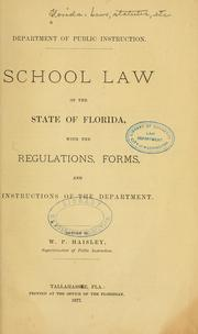 Cover of: School law of the state of Florida | Florida