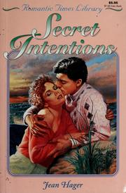 Cover of: Secret intentions by Jean Hager