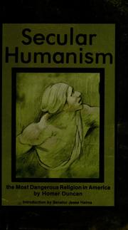 Cover of: Secular humanism | Homer Duncan