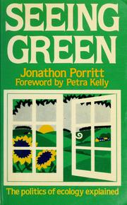 Cover of: Seeing green | Jonathon Porritt