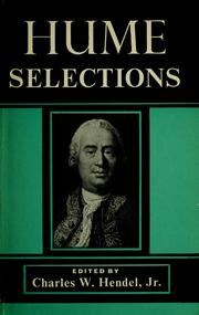 Cover of: Selections | David Hume